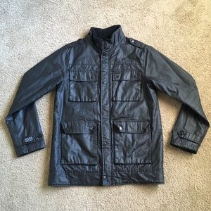 Dravus Faux Leather Waxed Jacket Quilt Insulated